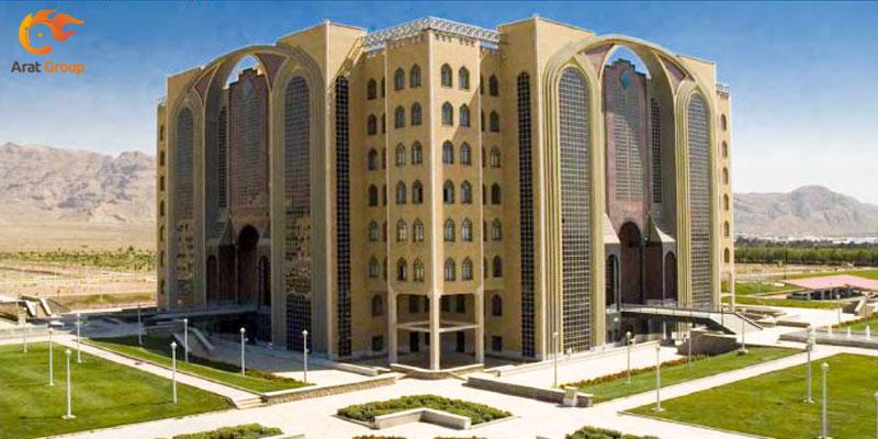 نصب اعلام حریق زتا در دانشگاه نجف آباد اصفهان