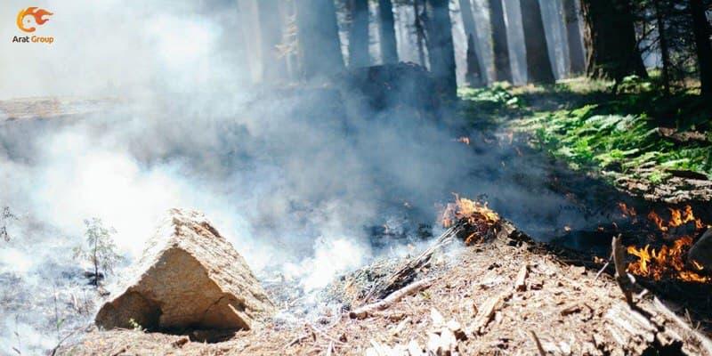 آغاز شعله زنی در حریق