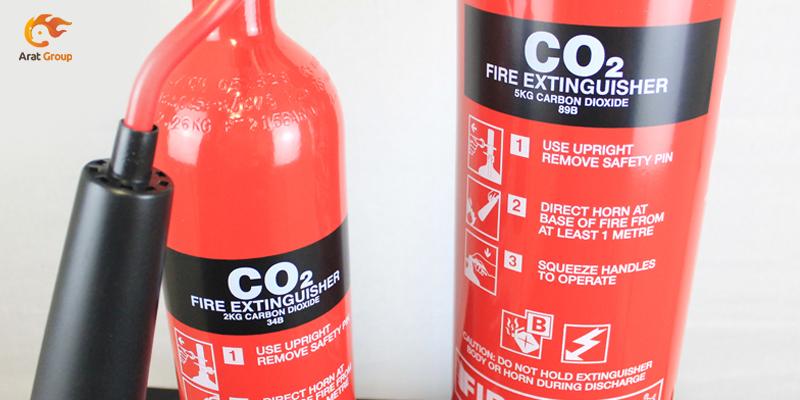 مواد خاموشکننده حریق - گاز دیاکسیدکربن
