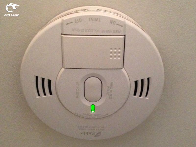 رابطهای کاربری دتکتور گاز مونوکسید کربن - چراغ سبز رنگ