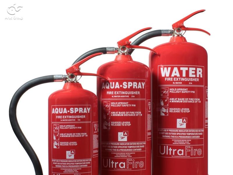 خاموشکنندههای آبی (Water extinguishers)