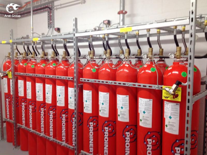 تجهیزات آتش نشانی - سیستمهای اطفای حریق گازی